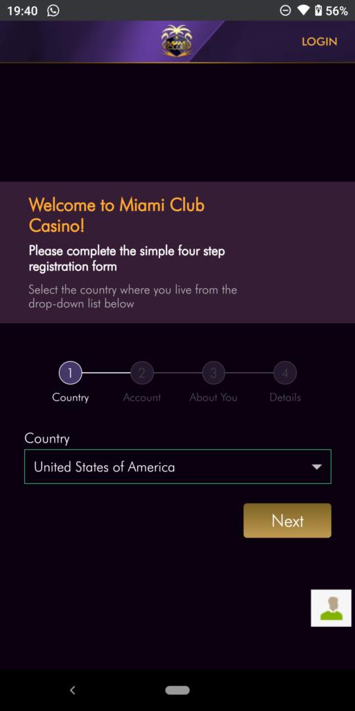 miami club casino sign up