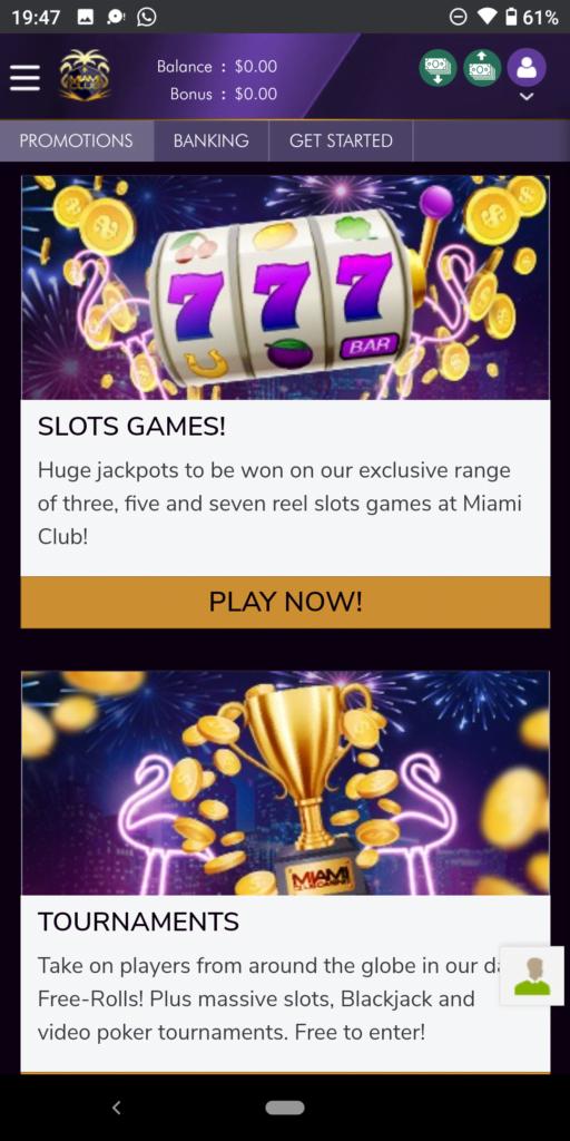 miami club casino promotions