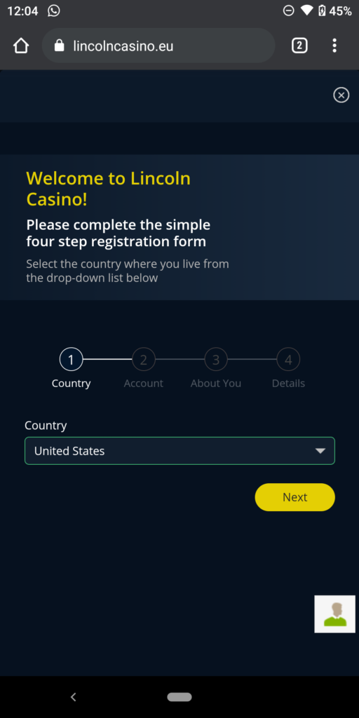 lincoln casino sign up