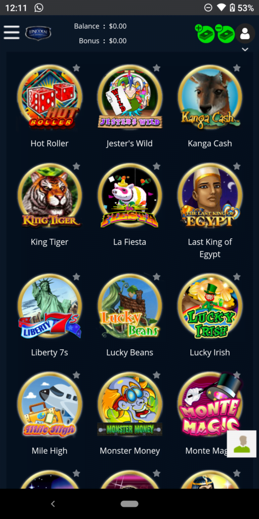 lincoln casino games experience