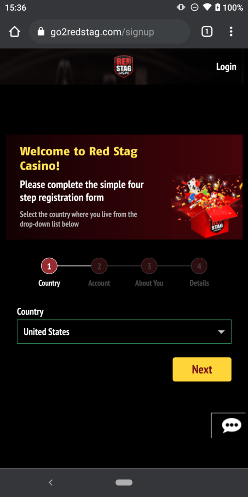 red stag sign up 1