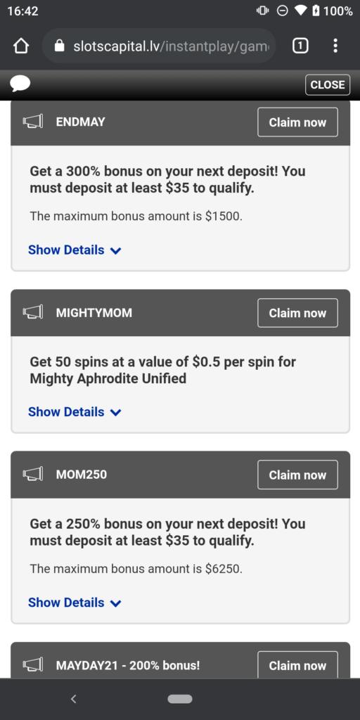 slots capital casino promotions